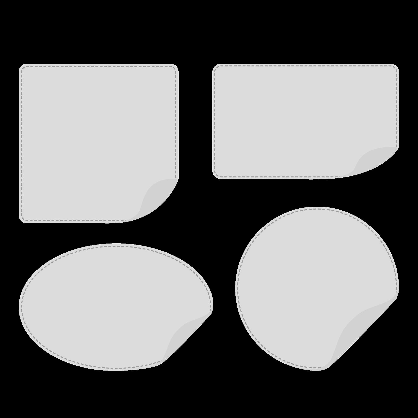 Signaal Stickers - Verschillende vormen